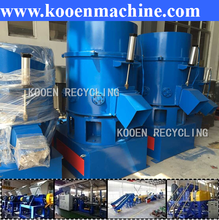 waste used scrap LDPE PP HDPE plastic film bags pet flake agglomerator machine price
