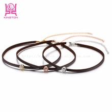 2017 New arrival hot chokers necklace stainless steel gold jewellery dubai necklace ladies accessories