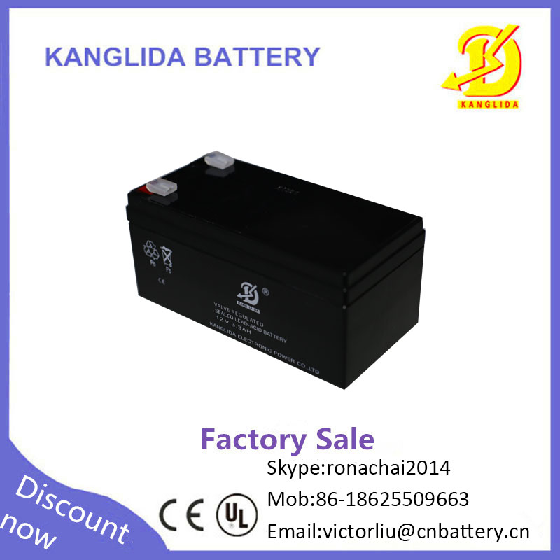 12 volt 12v3.3ah free seald lead acid rechargeable battery manufacturing plant for sale
