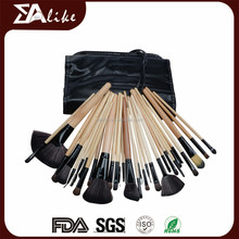 Fashion make up makeup brush japan natural hair custom wood handle cosmetic brushes