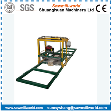 Woodworking Chain Saw Cutting Timber Board Machine