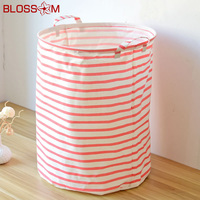 Pink Heavy Code Laundry Bin Tote Washing Bag with Drawstring and Handles