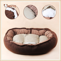 Wholesale plush puppy cats machine washable dog bed for pet