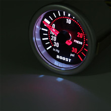 2 Inch 52mm Universal PSI Smoke Face Carbon Fiber Pod Meter Turbo Boost Gauge