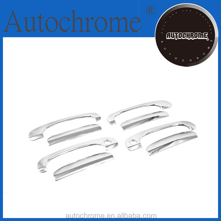 Chrome abs plastic abs car accessories, chrome door handle oval surround bezel - for Hyundai Sonata EF 02-05