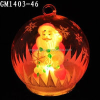 Electric father christmas glass ball with color changing