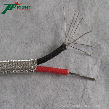 E type thermocouple made up of solid wires or strand wires