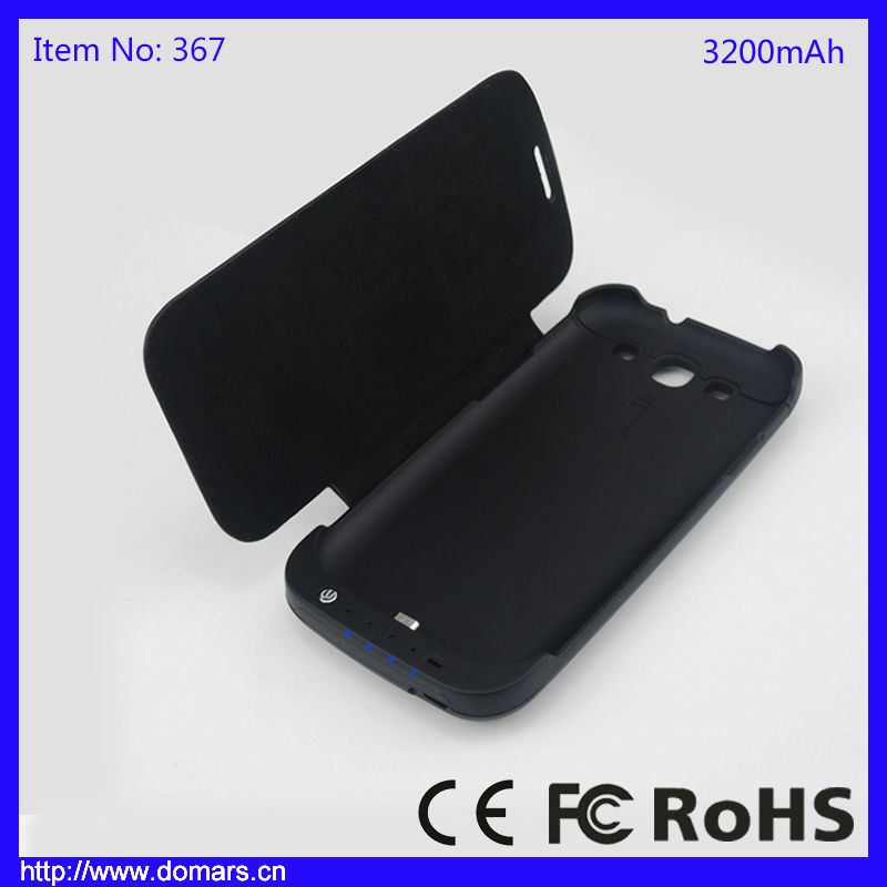 High Quality Portable Power Charger Backup Battery Case 3200mAh for Samsung Galaxy S3