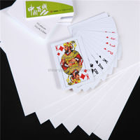 pvc sheet for playing cards