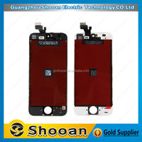 cherry mobile phone parts for iphone 5 lcd touch screen digitizer touch with lcd display screen + flex cable