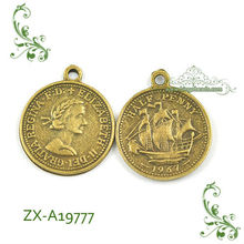 New Design Coin Charms Pendant Anqitue Charms Supplier
