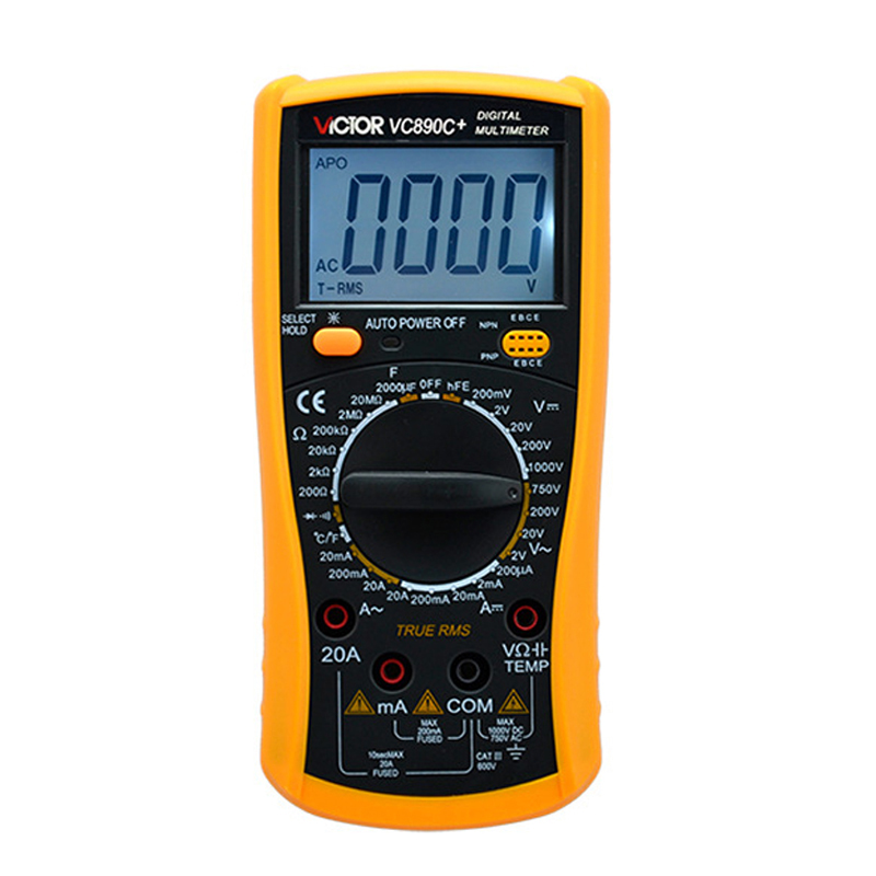 VICTOR VC890C+ Digital Multimeter with Temperature Test Function True RMS Multimeter 2000UF Capacitor Temperature Measurement