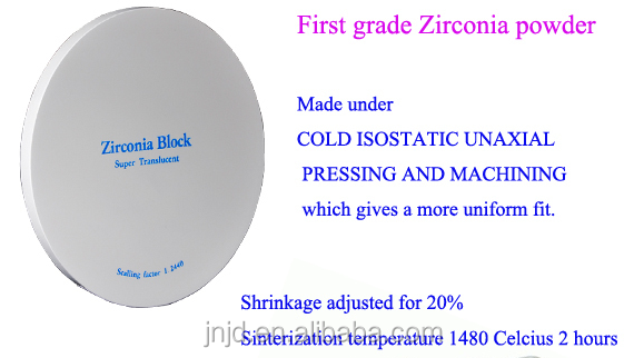 Newest and low price dental unit factory zirconia block made in China