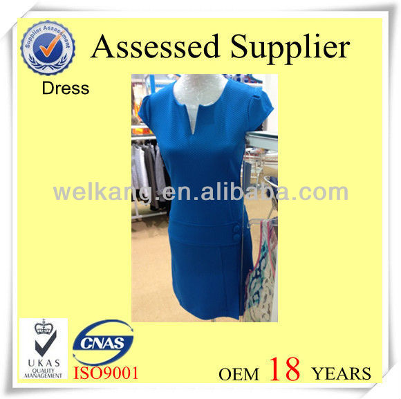 Casual dress polyester dress women