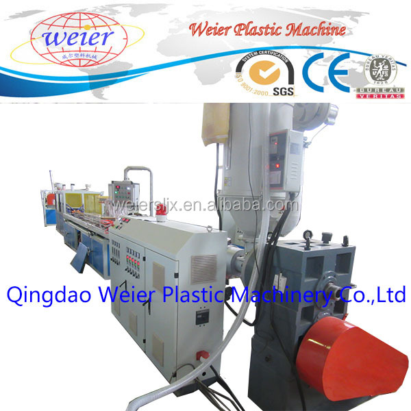 High quality WPC PVC ecological profile plastic machinery production line/PP PE PVC WPC skirting board production line