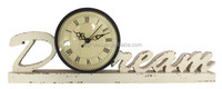 retro vintage unusual shape dream wooden mantle clocks