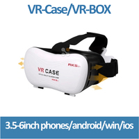2016 New Arrival Professional VR CASE 5th 3D Glasses Upgraded Version Virtual Reality 3D Video Glasses+ Bluetooth Remote