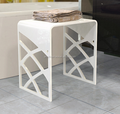 u shape engraved acrylic bathroom table
