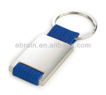 Large print area Zinc alloy and Blue Polyester Keychain/Keyring