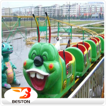 Beautiful interesting kiddie ride train apple worm roller coaster for sale