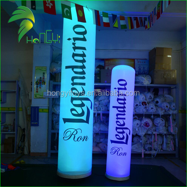 Customized Inflatable Led Lamp Post / Lighting Up Balloon Column Stands / Inflatable Cofourful Column with 3D Modeling Design