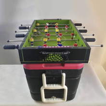Plastic 60L foosball table cooler box with wheels and pull rod handle
