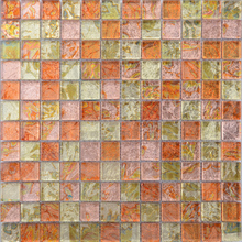 SH101 foshan colourful electroplating rainbow color glass mosaic tile