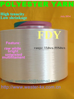 low shrinkage high tenacity polyester filament yarn --FDY