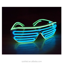 Hot Selling! El Wire Party Sunglasses Colorful Lighting Shutter Flashing Glasses