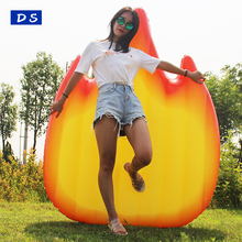 New adult size Fire shape giant inflatable flame pool float for summer holiday water game