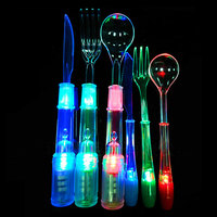2016 new promotion gifts Multicolor Illumination Led Flashing Tableware For Party