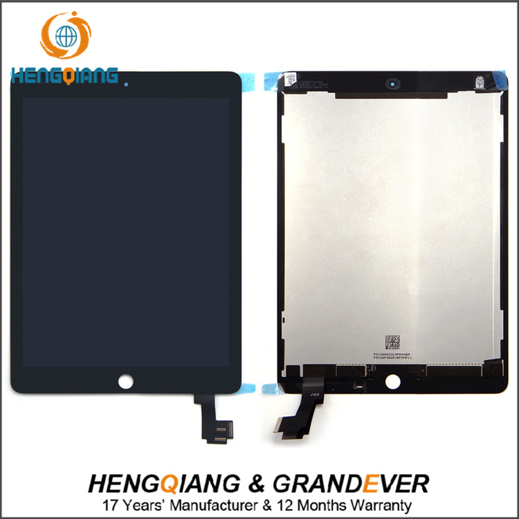 9.7 '' Black LCD Replacement for apple iPad air 2 LCD, For iPad 6 LCD Panel Display