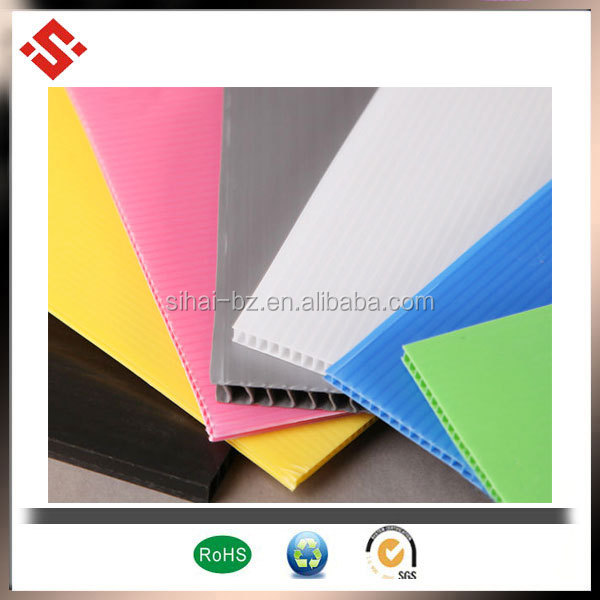 2014 colored PP 1/ 2 inch plastic sheets