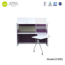 Modern office workstation/Modular partition desk/computer table with one side feet