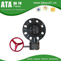 Wafer Butterfly Valve UPVC, Universal Flange Connection, Worm Gear EPDM seat