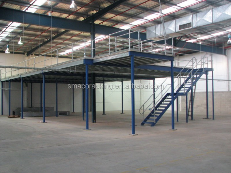 Warehouse Muitl-Level Steel Flooring Platform Rack System Mezzanine Floor Racking