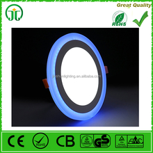 Ultrathin Round Double Color White Blue Led Lights Panel Light Led Downlight Ceiling Light (3+2)W