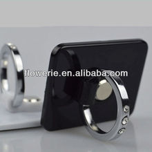 FL2638 Guangzhou hot selling diamond 360 degree rotating ring buckle mobile phone stand holder for iphone 5