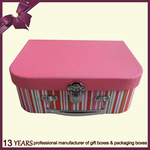 Promotional paper custom suitcase cardboard hard gift box