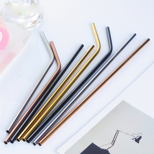 Wholesale (18/10)304 Stainless steel Straws Rose gold with Case and Cleaning