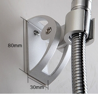 S-50 aluminium adjustable shower head holder with blister packing