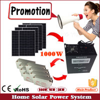 1KW 5KW 10KW PV System home use off gird solar power station