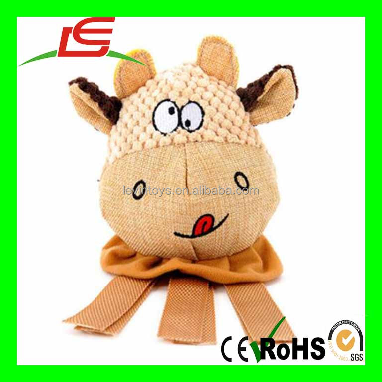 Dog Animal Shape Playing Squeaky Plush Funny Sounds Doll Training Toy