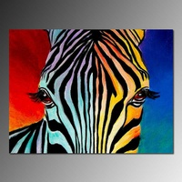 Zebra painting on canvas Animal theme home wall decor abstract art painting