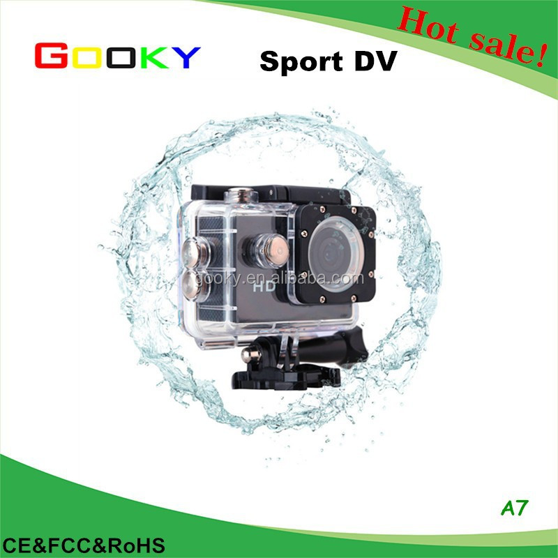 "A7 HD 720P Sport DV Action Camera 1.5"" LCD 90 Degree Wide Angle Lens 30M Waterproof Mini Digital Camcorder"