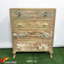 New Launch Handmade Solid Wood Small Vintage Storage Cabinet