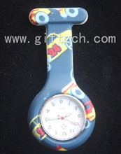 Medical promotion gifts Print silicone nurse watch (SN005029)