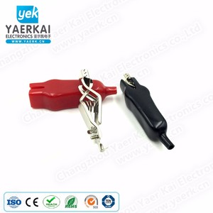 YAERK 20A copper strong spring car battery terminal clip with 5 color