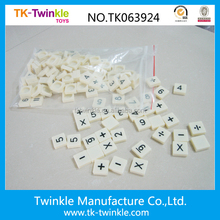 Other educational toys plastic number scrabble tiles 146pcs scrabble tiles