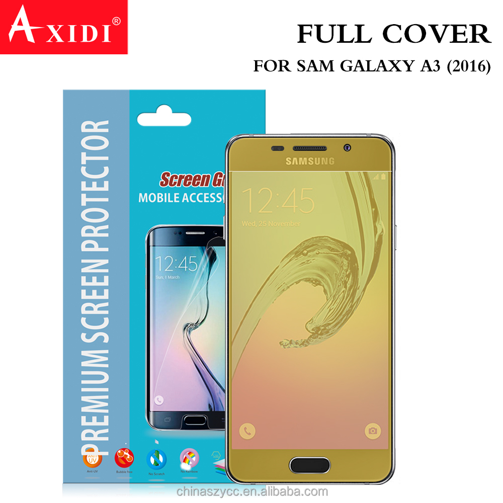 cell phone smart latest samsung phones TPU full cover screen protector for samsung A3 2016 2017